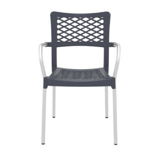 Bella Outdoor Arm Chair White ISP040 360° view