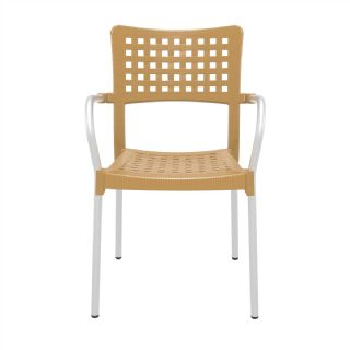 Gala Outdoor Arm Chair White ISP041 360° view
