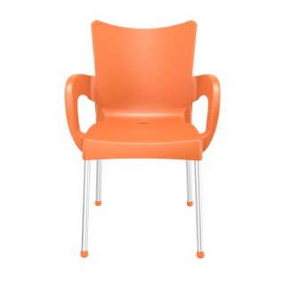 RJ Resin Outdoor Arm Chair Red ISP043 360° view