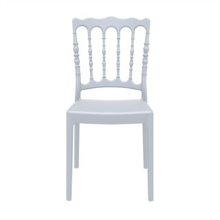 Napoleon Wedding Chair Silver Gray ISP044 360° view