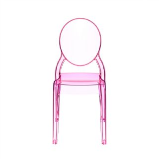 Baby Elizabeth Polycarbonate Kids Chair Transparent Red ISP051 360° view