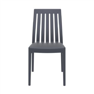 Soho Modern High-Back Dining Chair Dark Gray ISP054 360° view