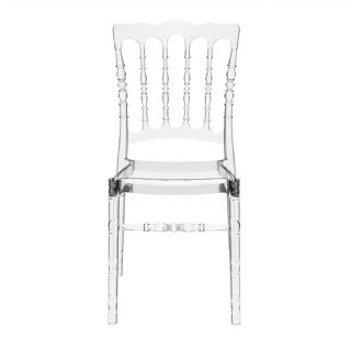 Opera Polycarbonate Dining Chair Transparent Clear ISP061 360° view