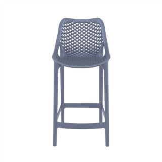 Air Outdoor Counter High Chair Dove Gray ISP067 360° view