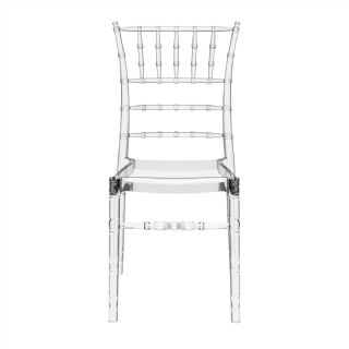 Chiavari Polycarbonate Dining Chair Transparent Clear ISP071 360° view
