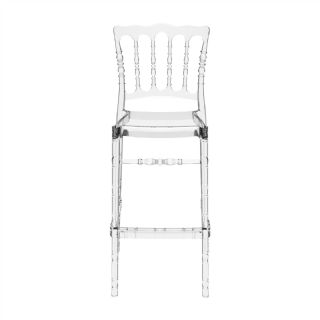 Opera Polycarbonate Barstool Transparent Clear ISP073 360° view