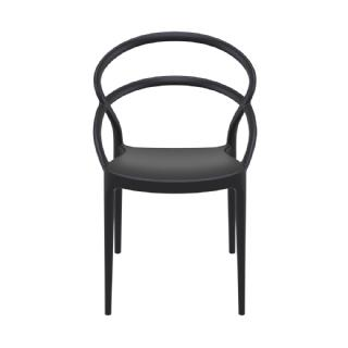 Pia Outdoor Dining Chair White ISP086 360° view