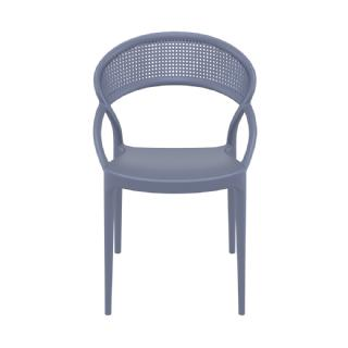 Sunset Outdoor Dining Chair White ISP088 360° view