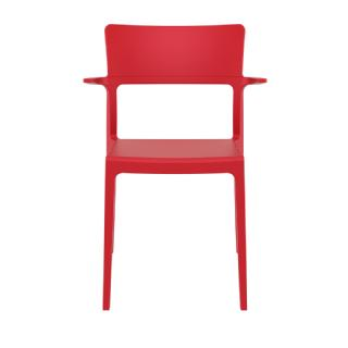 Plus Outdoor Dining Arm Chair Red ISP093 360° view
