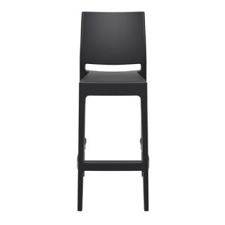 Maya Outdoor Barstool Black ISP099 360° view