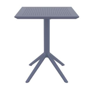 Sky Outdoor Square Folding Table 24 inch Dark Gray ISP114 360° view