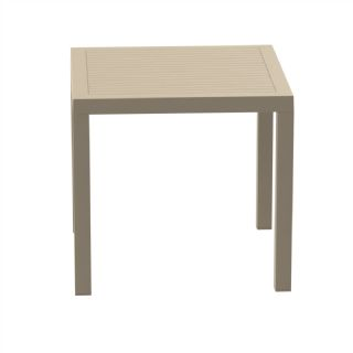 Ares Resin Outdoor Dining Table 31 Inch Square Brown