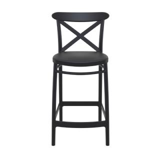 Cross Outdoor Counter Stool Taupe ISP264 360° view