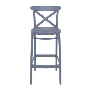 Cross Outdoor Bar Stool White ISP266 360° view