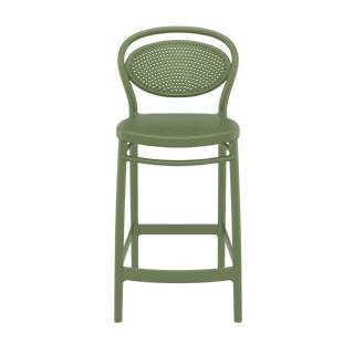 Marcel Outdoor Counter Stool Olive Green ISP268 360° view