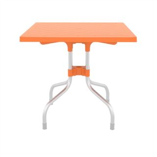 Forza Square Folding Table 31 inch - Orange ISP770 360° view