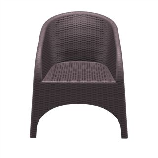 Aruba Wickerlook Resin Patio Chair Dark Gray ISP804 360° view