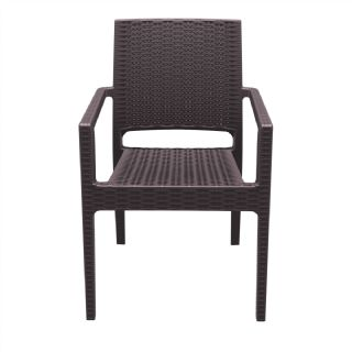 Ibiza Wickerlook Resin Patio Armchair Dark Gray ISP810 360° view