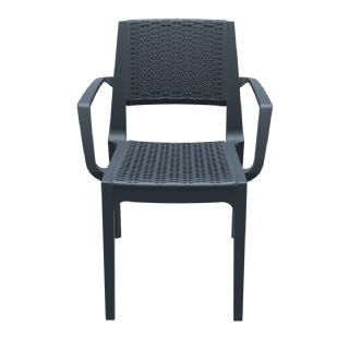 Capri Wickerlook Resin Patio Armchair White ISP820 360° view