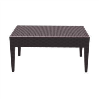 Miami Wickerlook Resin Patio Coffee Table Brown 36 inch. ISP855 360° view