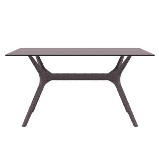 Ibiza Rectangle Outdoor Dining Table 55 inch Dark Gray ISP864 360° view