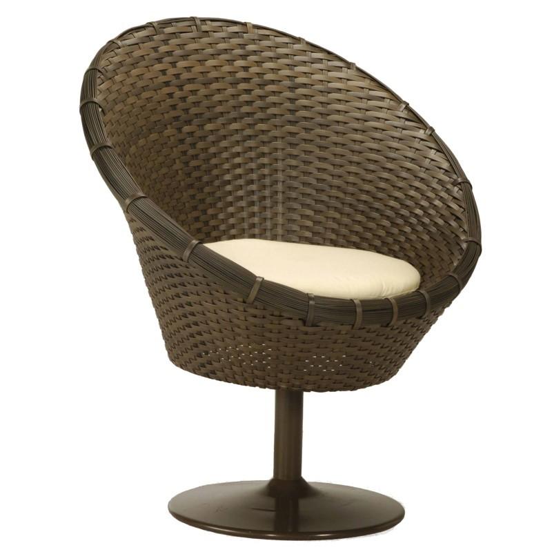 Tidelli Goa Outdoor Wicker Swivel Dining Chair TID1807