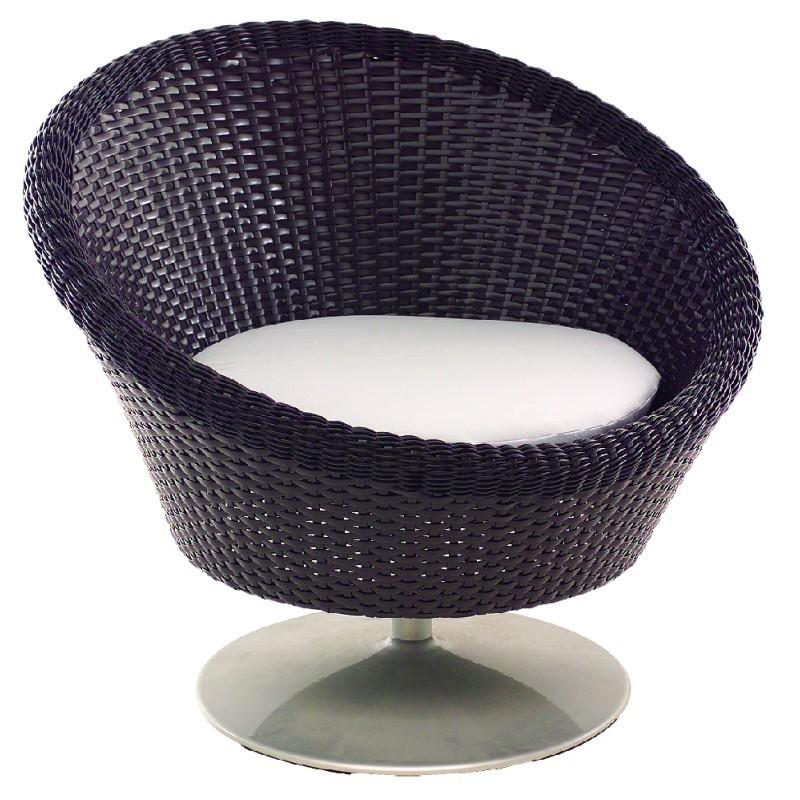goa outdoor wicker swivel lounge chair tid1810
