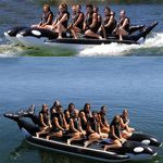 Whale Ride Towable Water Tube 10 Passenger Side By Side AS-PVC-10-WR