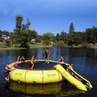 Island Hopper 25 feet Giant Jump Water Trampoline AS-25PVCTUBE