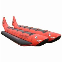 Red Shark Towable Water Tube 10 Passenger Side by Side AS-RSPVC-10