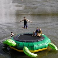 Water trampolines and bouncers