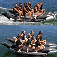 Whale Ride Towable Water Tube 6 Passenger Side By Side AS-PVC-6-WR-SBS