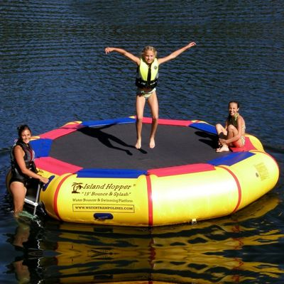 Island Hopper 13 feet Bounce & Splash Padded Water Bouncer AS-13BSPLASH