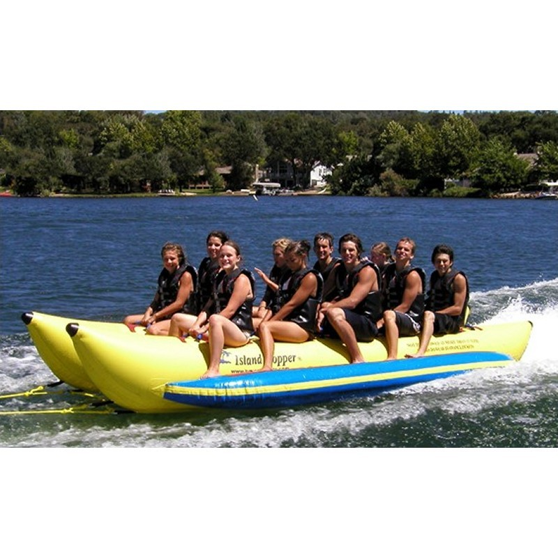 Tubes To Pull Behind Boat: Banana Boat Towable Water Sled 10 Person Side by Side