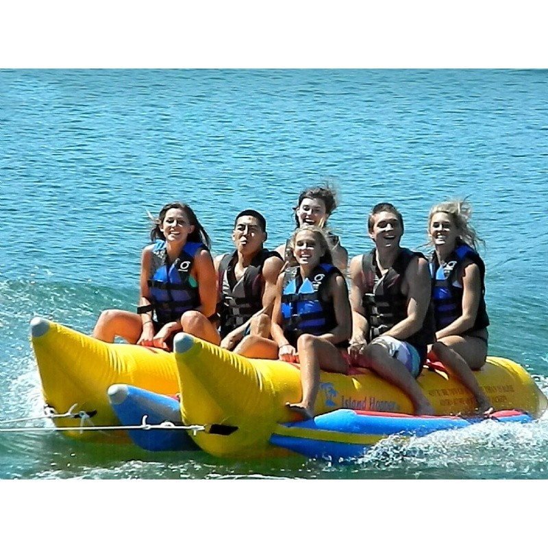 Tubes To Pull Behind Boat: Banana Boat Towable Water Sled 6 Person Side by Side