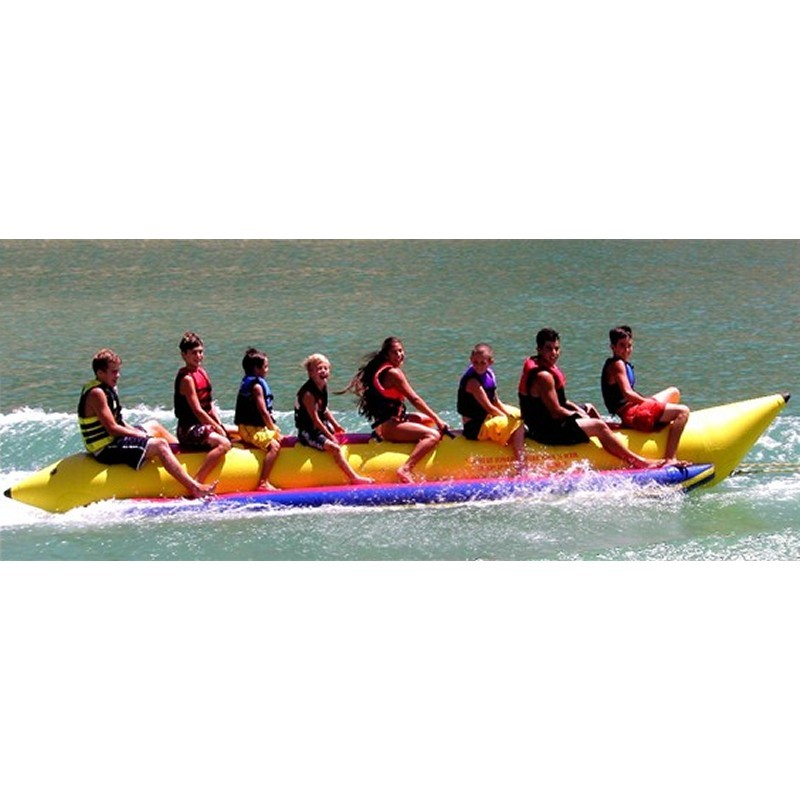Towable Water Tube Sports Outdoors: Banana Boat Towable Water Sled 8 Person Inline