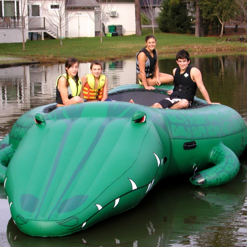 Lake Trampolines, Bouncers, Rafts: Gator Bounce & Slide Lake Waterpark Bouncer
