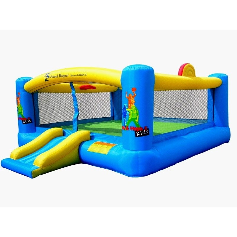 Blow Up Trampoline: Hoops and Hoops Bounce House 12x15x7