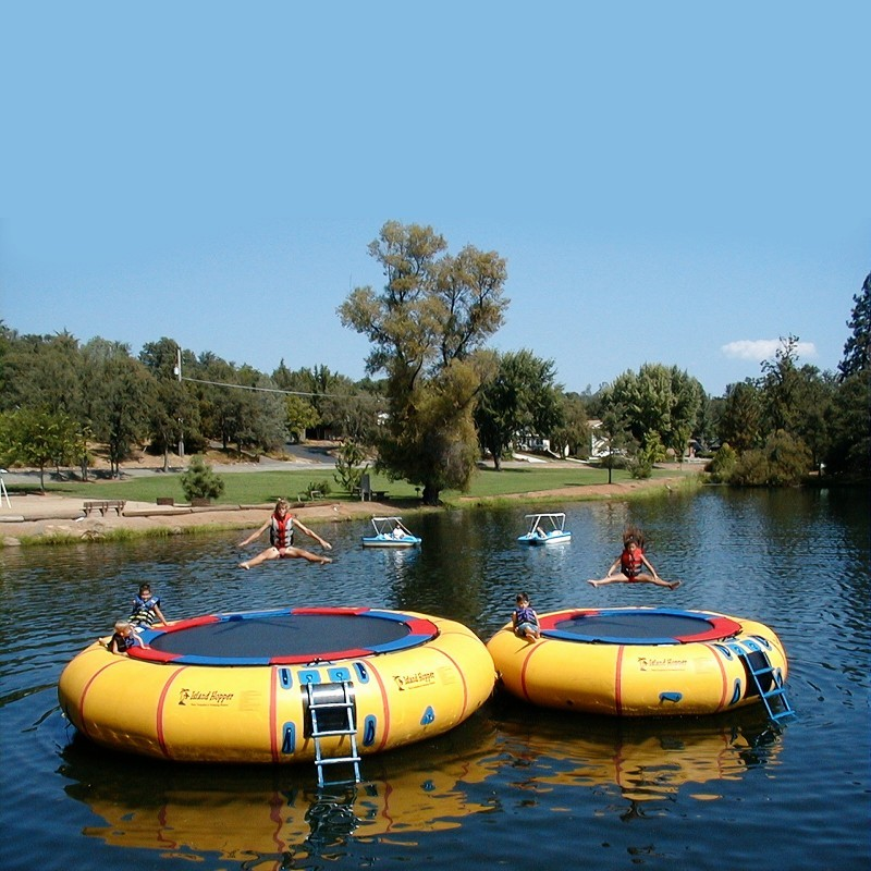 Island Hopper 15 feet Classic Lake Water Trampoline alternative photo