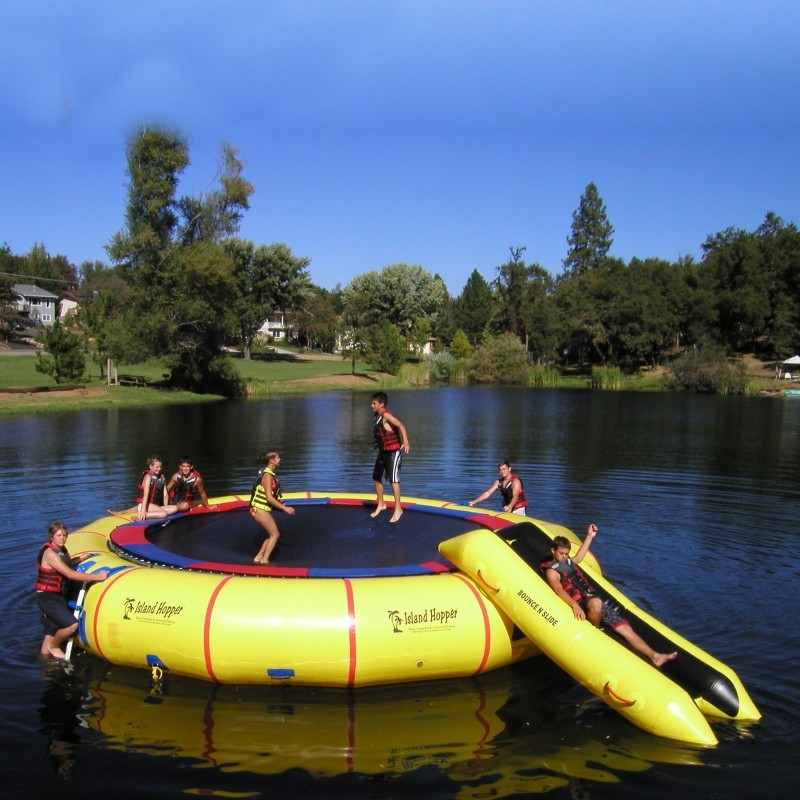 Lake Trampolines, Bouncers, Rafts: Island Hopper 25 feet Giant Jump Lake Trampoline