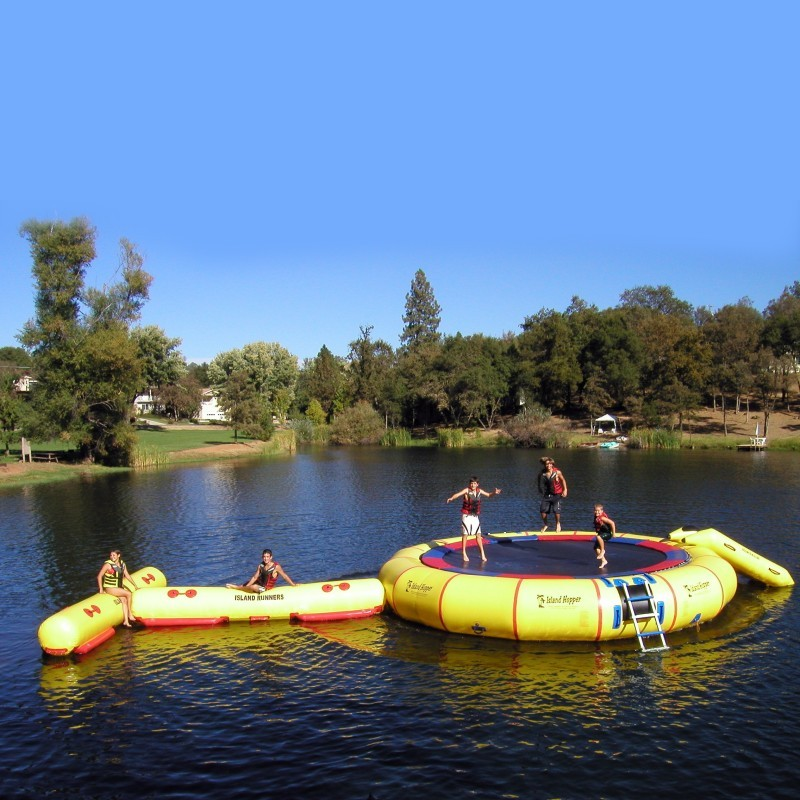 Lake Trampolines, Bouncers, Rafts: Island Runner Lake Log Module