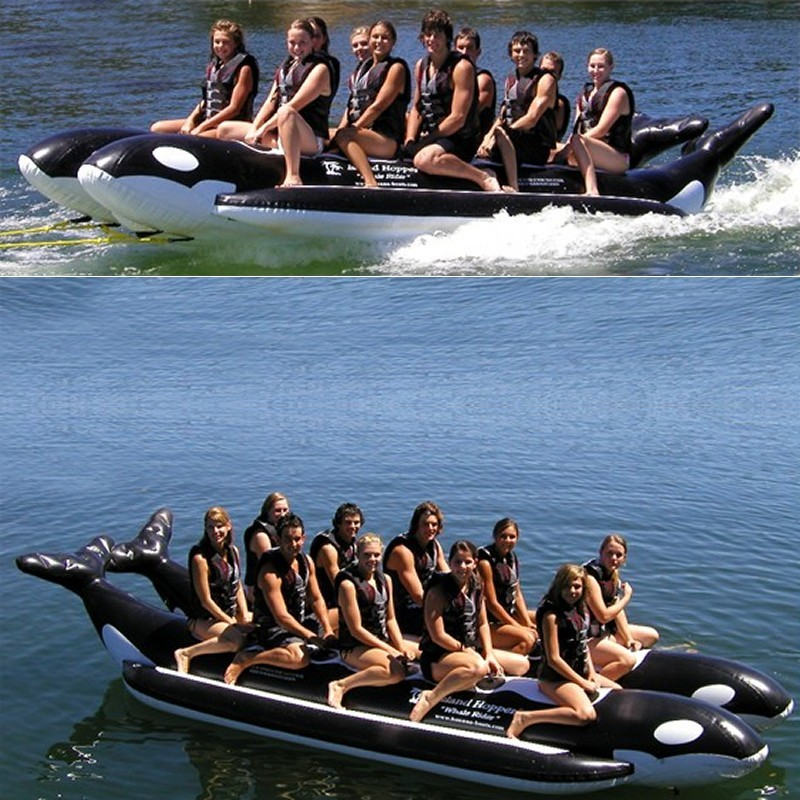 Manta Ray Towable Flying Water Tube: Whale Ride Towable Water Tube 10 Person Side By Side