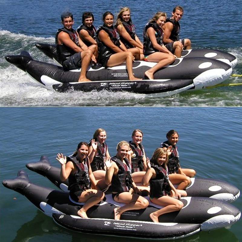Manta Ray Towable Flying Water Tube: Whale Ride Towable Water Tube 6 Passenger Side By Side
