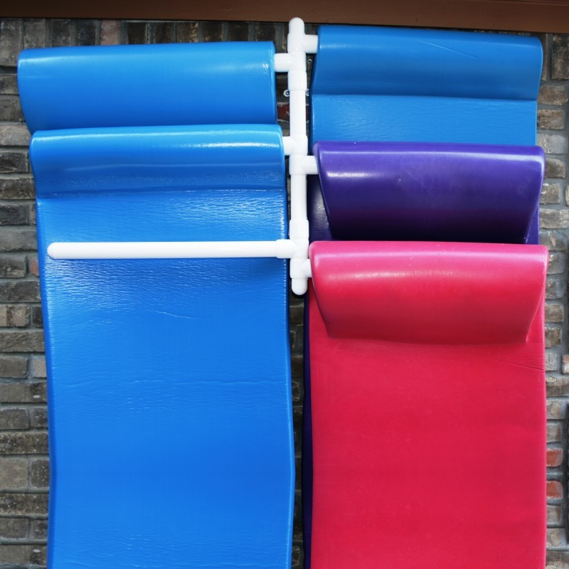Clearance Pool Floats: Wall Mounted Pool Float Hanger 6 Float Rack