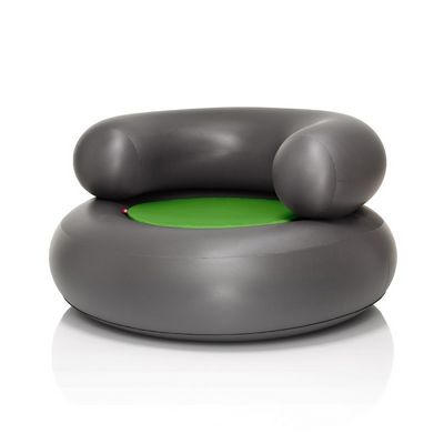 Fatboy® CH-AIR Anthracite with Green Pillow FB-CHR-ANT-GRN
