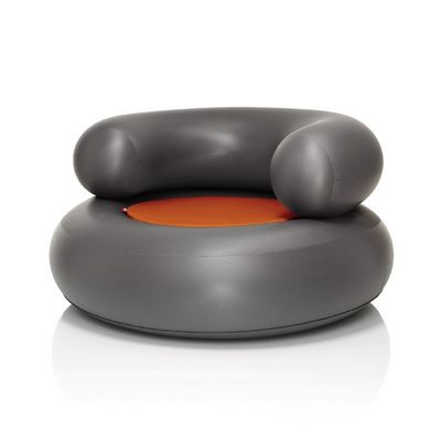 Fatboy® CH-AIR Anthracite with Orange Pillow FB-CHR-ANT-ORG