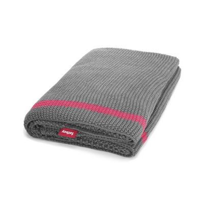 Fatboy® Klaid Large Throw Blanket Dark Grey/Neon Pink Stripe FB-KLAID-DKG-STRP