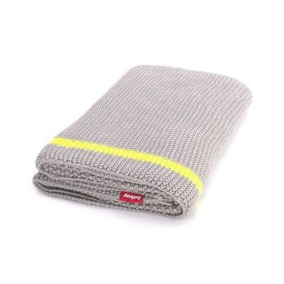 Fatboy® Klaid Large Throw Blanket Light Grey/Neon Yellow Stripe FB-KLAID-LTG-STRP