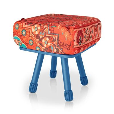 Fatboy® Krukski Stool - Persian Red / Blue FB-KRU-PRED-TBLU