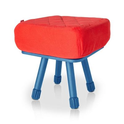 Fatboy® Krukski Stool - Red / Blue FB-KRU-RED-TBLU